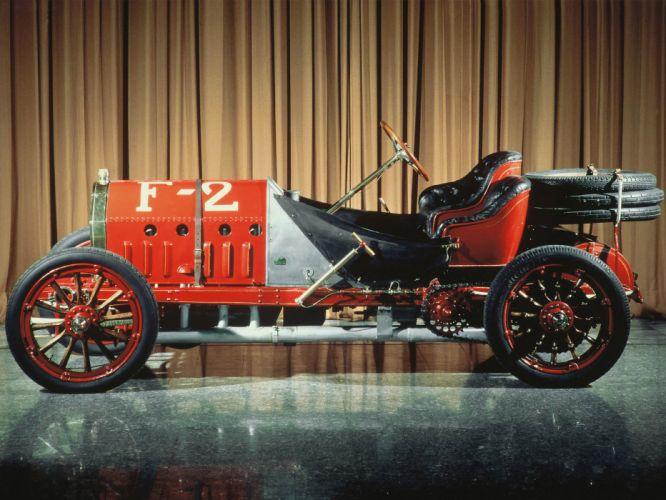 1907 Fiat 130-HP Grand Prix France Corsa race racing retro old antique wallpaper