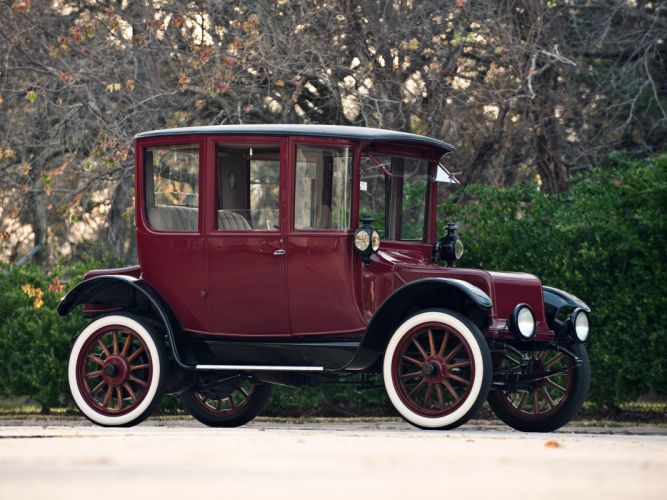 1918 Detroit Electric Brougham retro old wallpaper