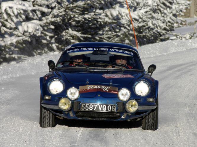 1973 Alpine A110 Rally race racing classic d wallpaper
