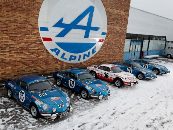 1973 Alpine A110 Rally race racing classic da wallpaper