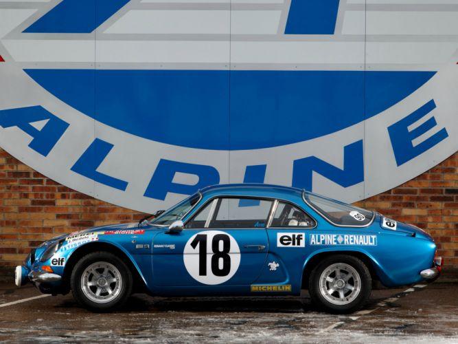 1973 Alpine A110 Rally race racing classic wallpaper