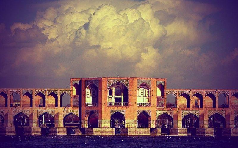 clouds iran sioseh pol esfahan wallpaper