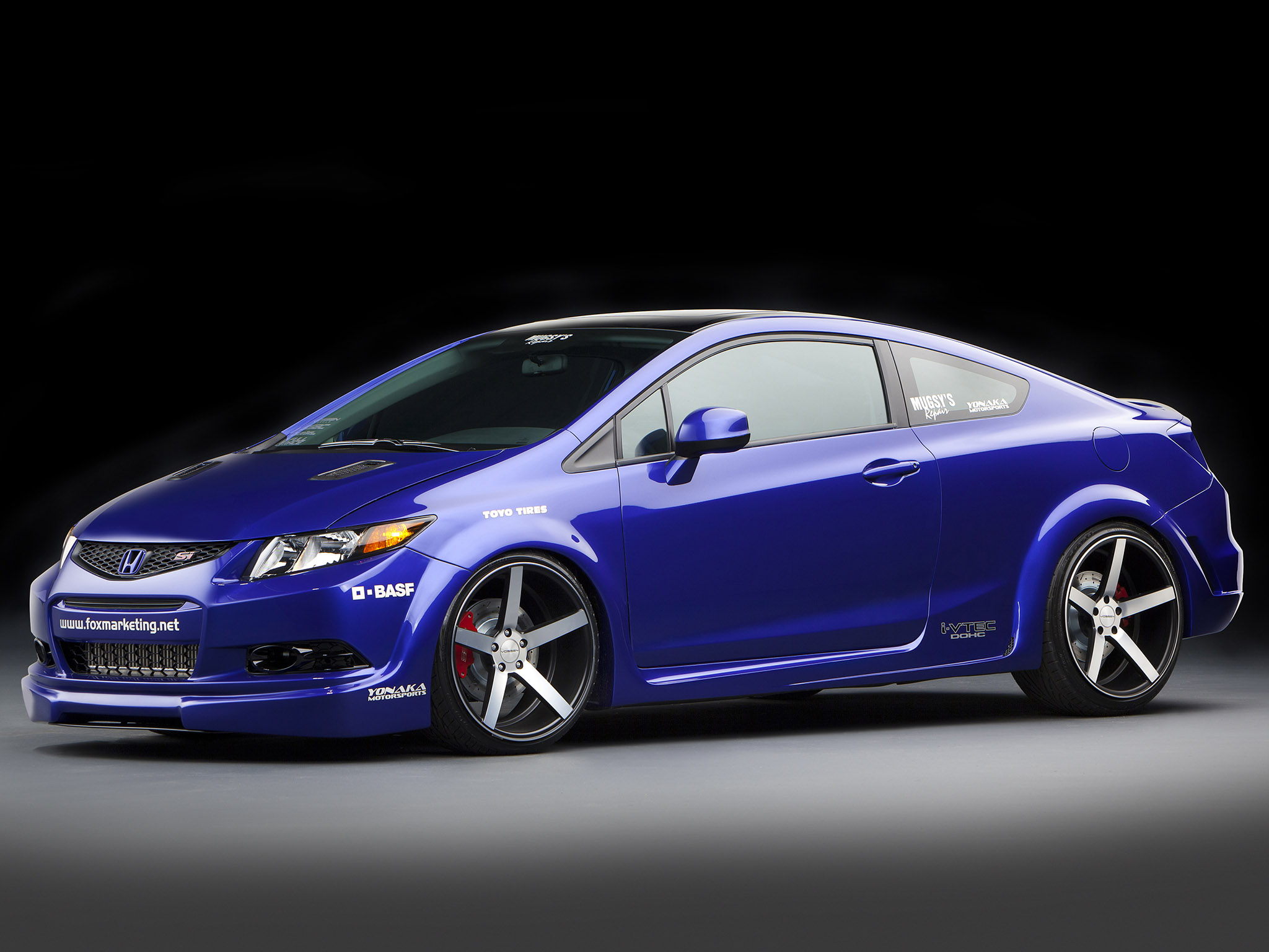 2011 Honda Civic Si Coupe Tuning Wallpaper 2048x1536