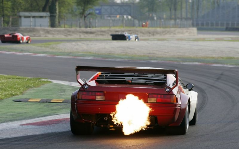 bmw m1 flames races wallpaper