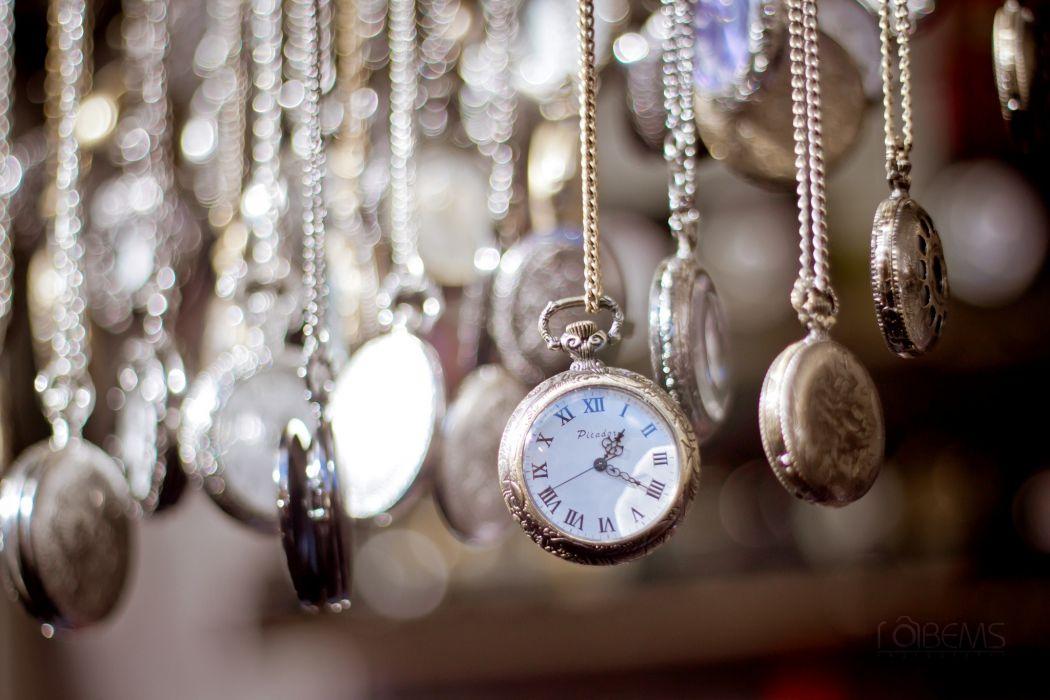 clock chains time dial watch bokeh wallpaper