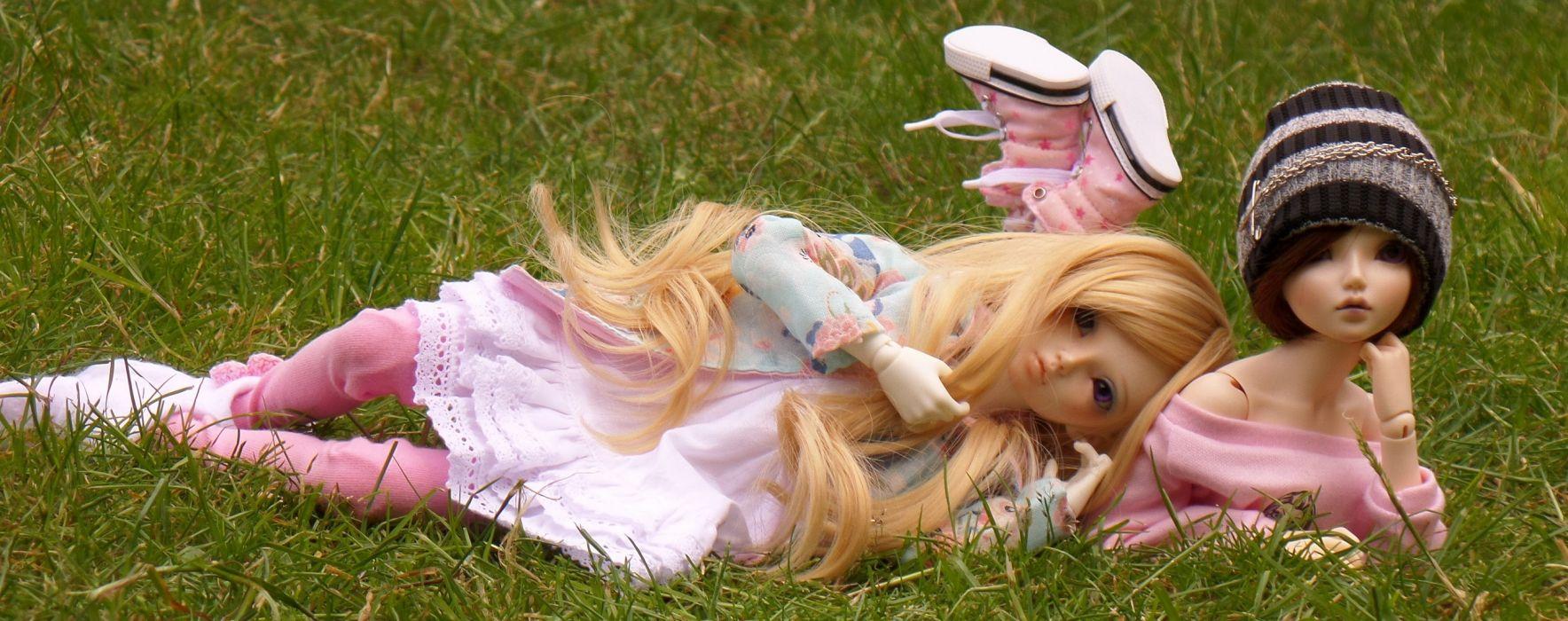 dolls toys doll toy girl girls bokeh mood multi dual wallpaper
