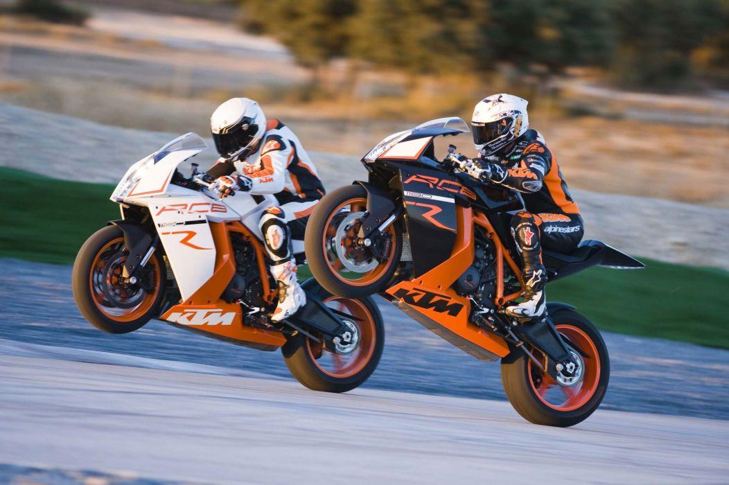 2011 KTM 1190 RC8R wheelie       d wallpaper