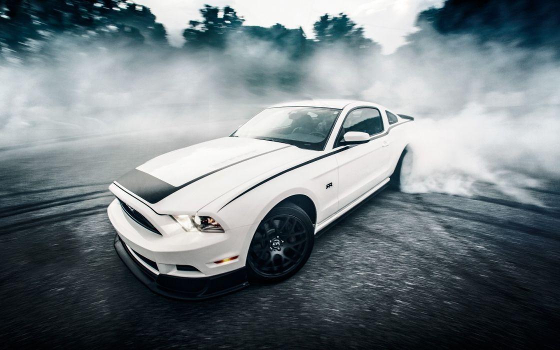 muscle car ford mustang drifting wallpaper