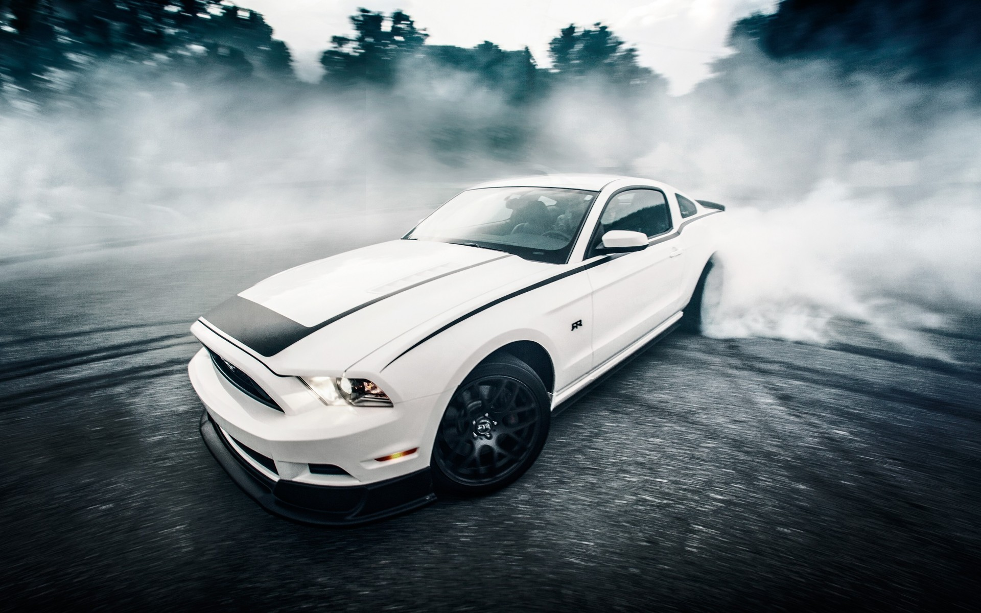 Muscle Car Ford Mustang Drifting Wallpaper 1920x1200 111485