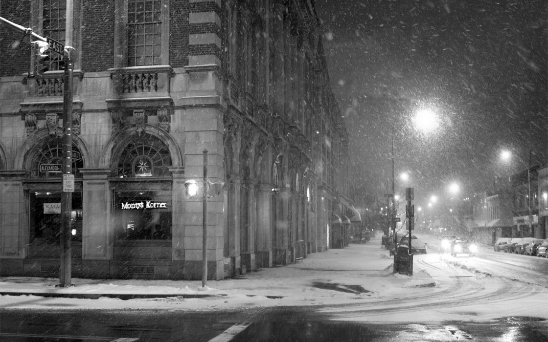 nature winter snow urban grayscale s nowfall wallpaper