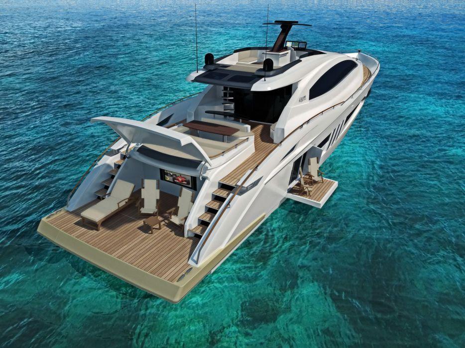 2009 Lazzara Yachts LSX Ninety Two luxury boat boats ship ships yacht wallpaper