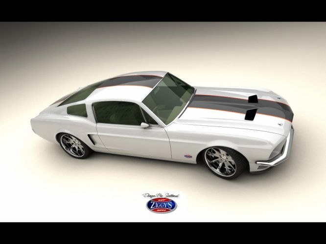1968 Ford Mustang Fastback Vizualtech classic muscle hot rod rods custom lowrider lowriders f wallpaper