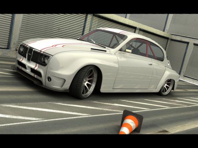 2010 Saab Custom 1968 Vizualtech tuning custom concept supercar supercars b wallpaper