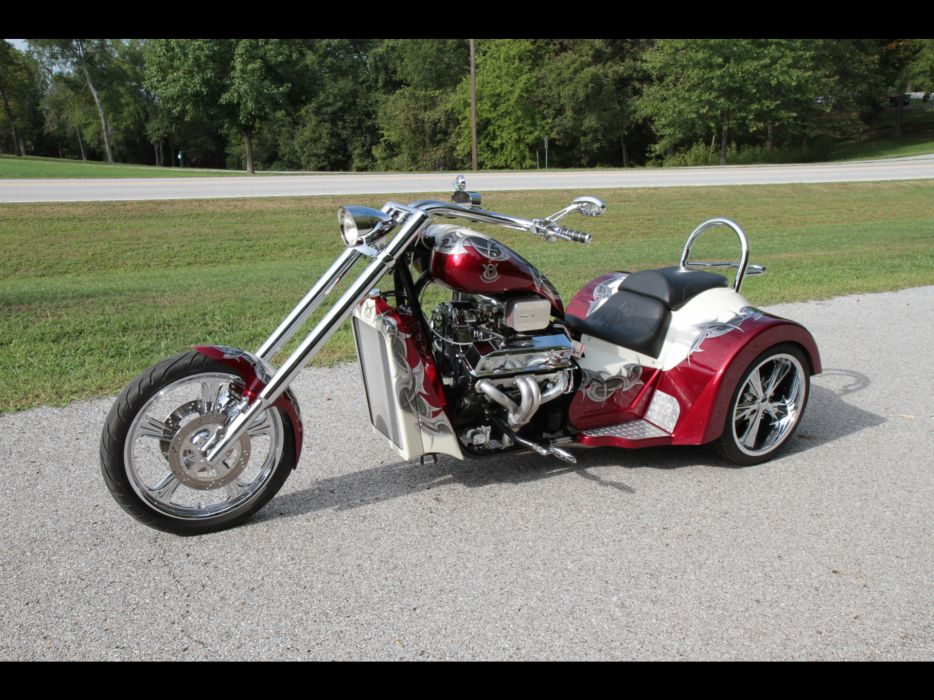 2011 V8-Choppers SP-Series Trike muscle v-8 chopper choppers hot rod rods bike engine engines wallpaper