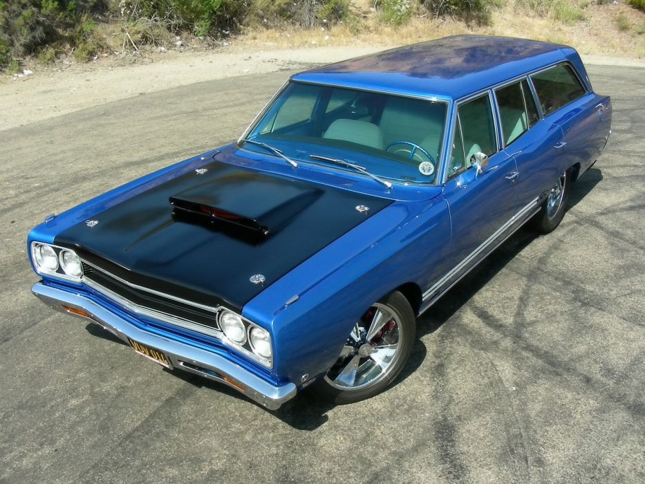 1968 Plymouth GTX 440 Six-Pack stationwagon classic muscle tuning hot rod rods     f wallpaper