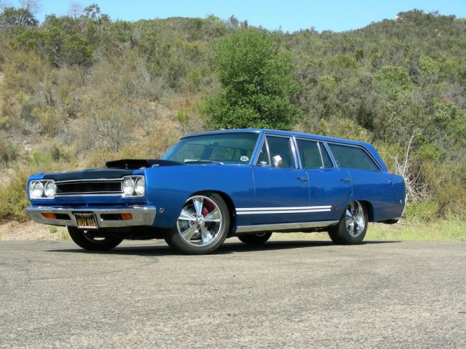 1968 Plymouth GTX 440 Six-Pack stationwagon classic muscle tuning hot rod rods wallpaper