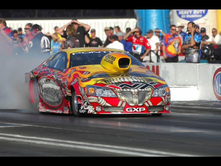 2008 Pontiac GXP NHRA Pro Stock drag racing race burnout smoke        ew wallpaper
