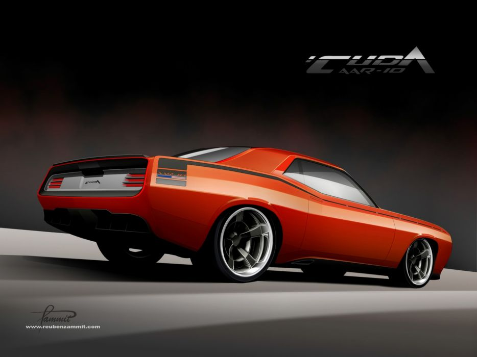 2010 Racer-X Plymouth Cuda AAR-10 supercar supercars muscle tuning hot rods rod custom     f wallpaper