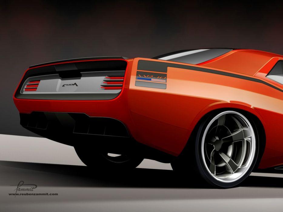 2010 Racer-X Plymouth Cuda AAR-10 supercar supercars muscle tuning hot rods rod custom wheel wheels   d wallpaper
