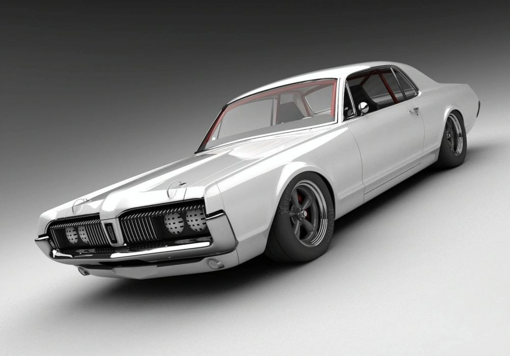 1968 Mercury Cougar muscle classic hot rod rods wallpaper