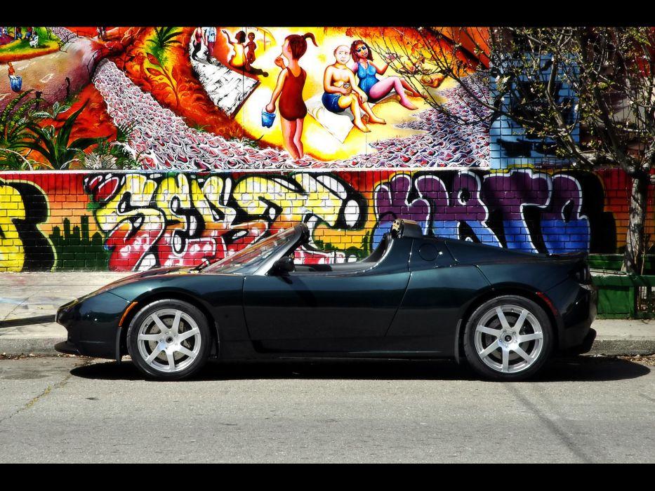 2008 Tesla Roadster supercar supercars graffiti wallpaper