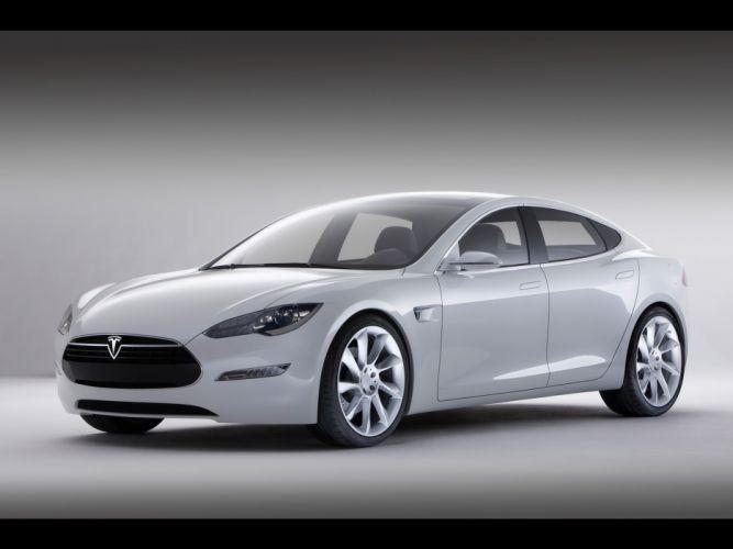2011 Tesla Model-S electric supercar supercars v wallpaper