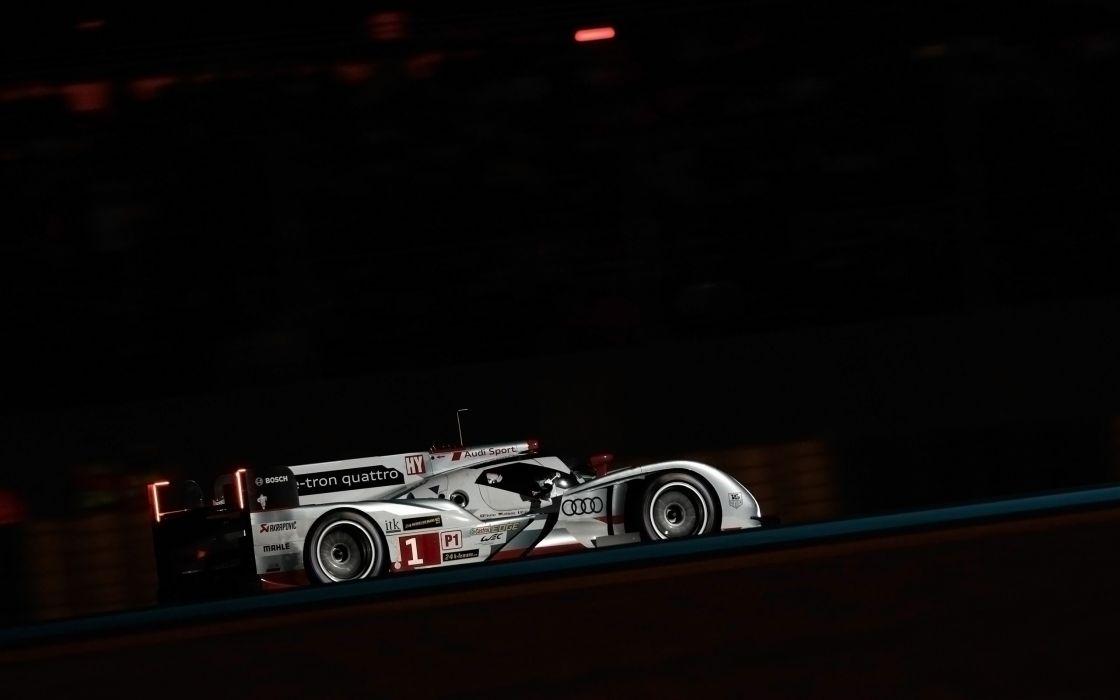 2013 Audi R18 e-tron quattro race racing le-mans  ff wallpaper