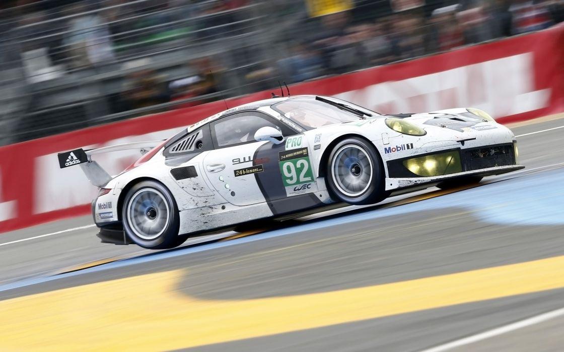 2013 Porsche 911 RSR Le-Mans race racing   n wallpaper