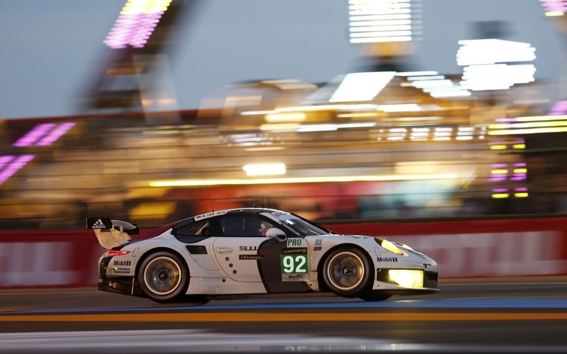 2013 Porsche 911 RSR Le-Mans race racing  b wallpaper