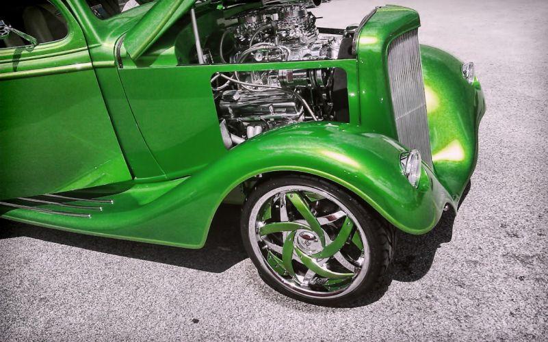 Niche Marques Hot Rod rods retro custom tuning engine engines wallpaper