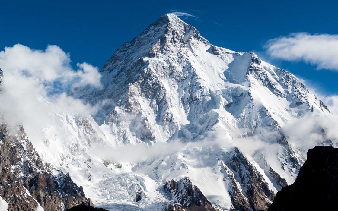 Himalayas peak slope snow wallpaper