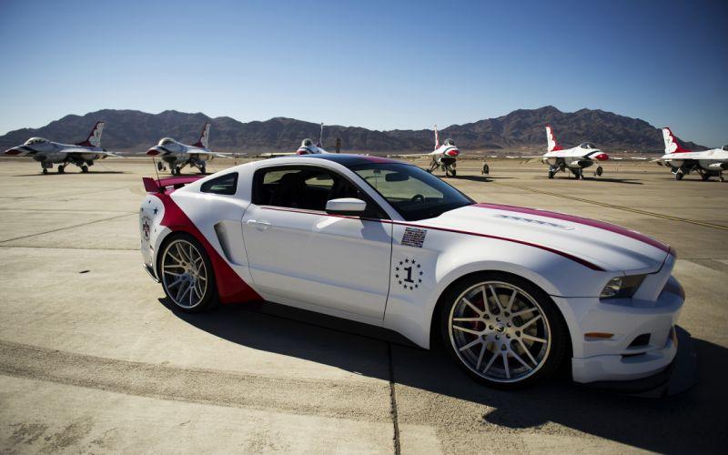 2014 Thunderbirds Ford Mustang GT muscle custom d wallpaper