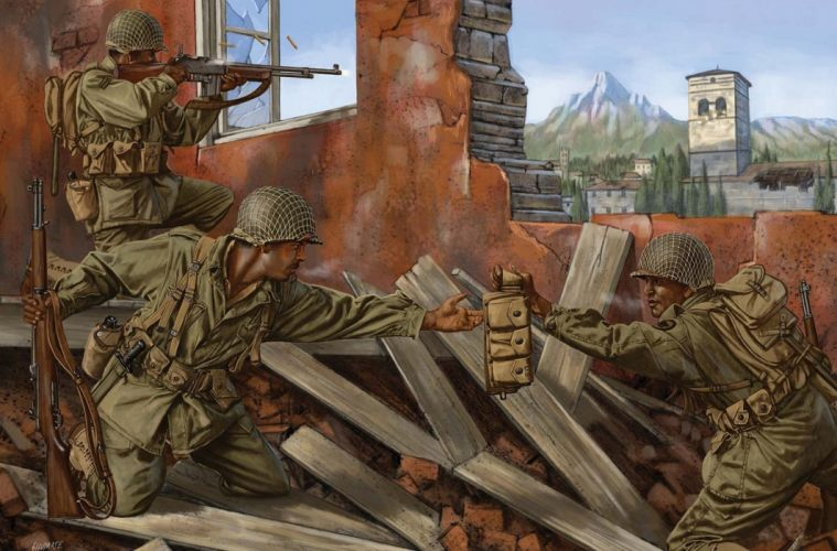 art war battle ruins browning automatic soldiers military wallpaper