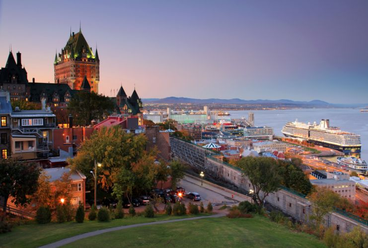 Canada Cruise liner Quebec Cities wallpaper
