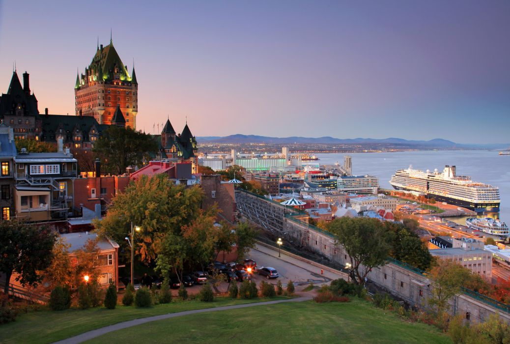 Canada Cruise liner Quebec Cities wallpaper