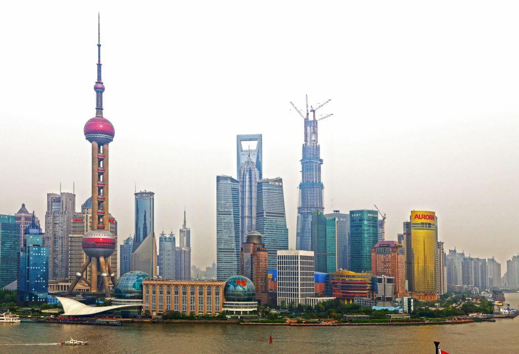 China Skyscrapers Houses Shanghai Cities wallpaper
