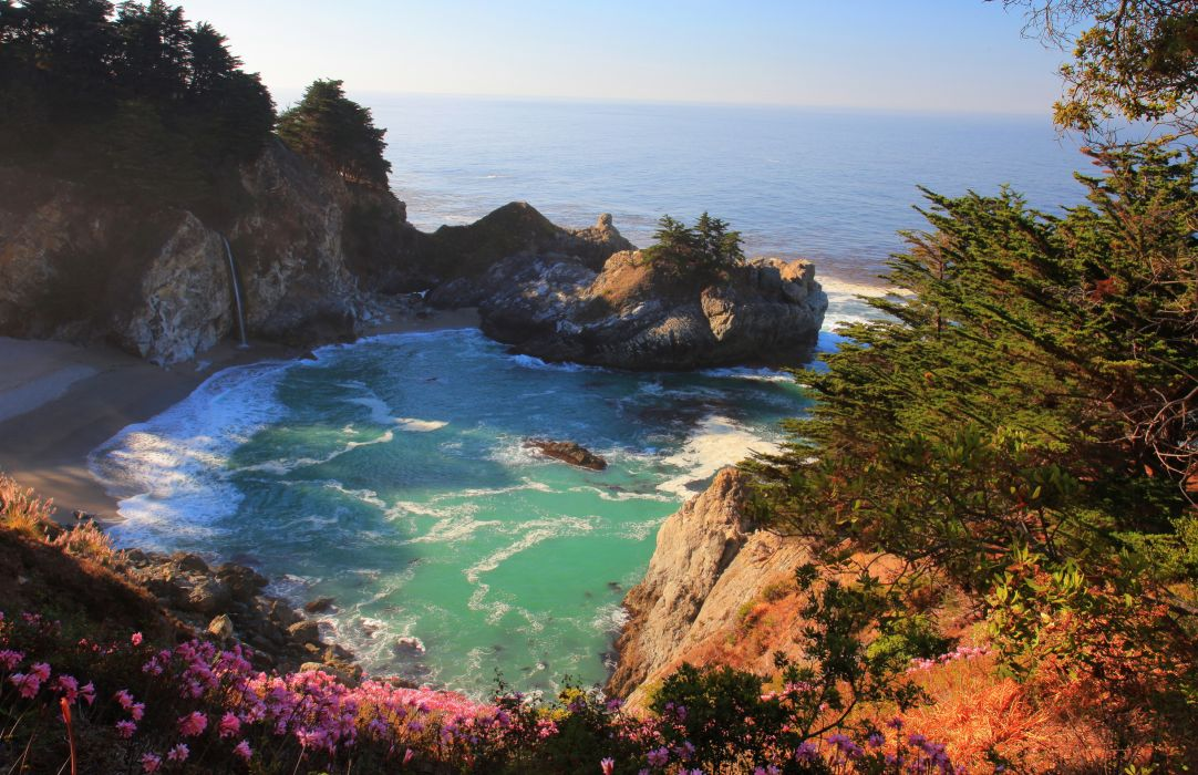 Coast USA California Nature wallpaper