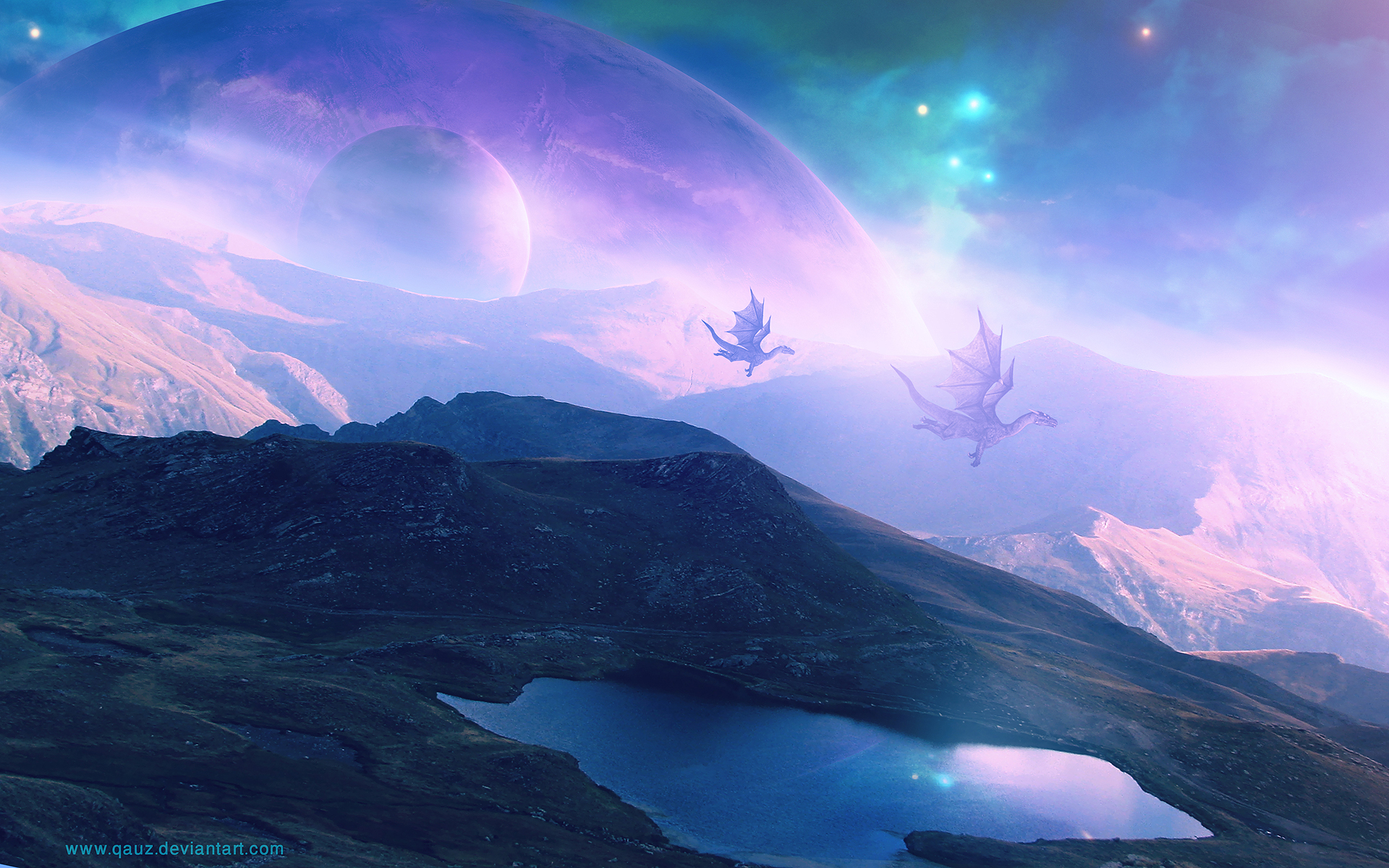 dragon landscape scenic wallpaper - photo #14