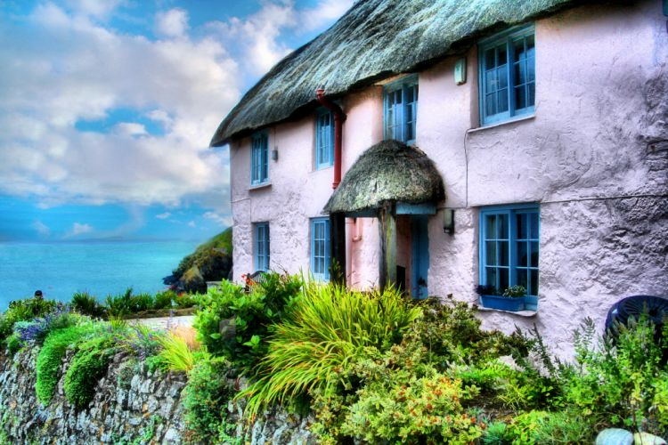 England Houses Cornwall HDR Cities wallpaper