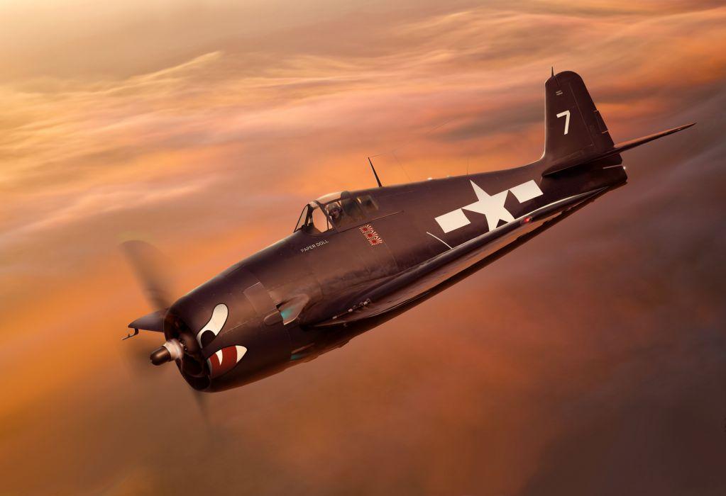 f6f-3 the plane hellcat art grumman military airplane plane wallpaper