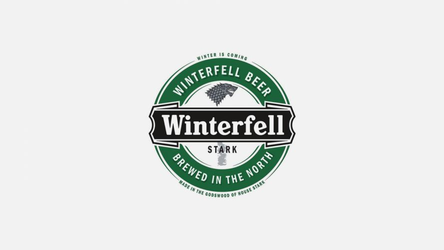 Game of Thrones Song of Ice and Fire Beer Alcohol Logo Stark Winterfell wallpaper