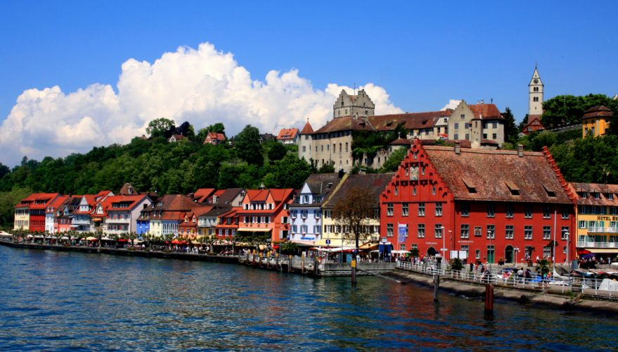 Germany Houses Coast Hagnau am Bodensee Cities wallpaper