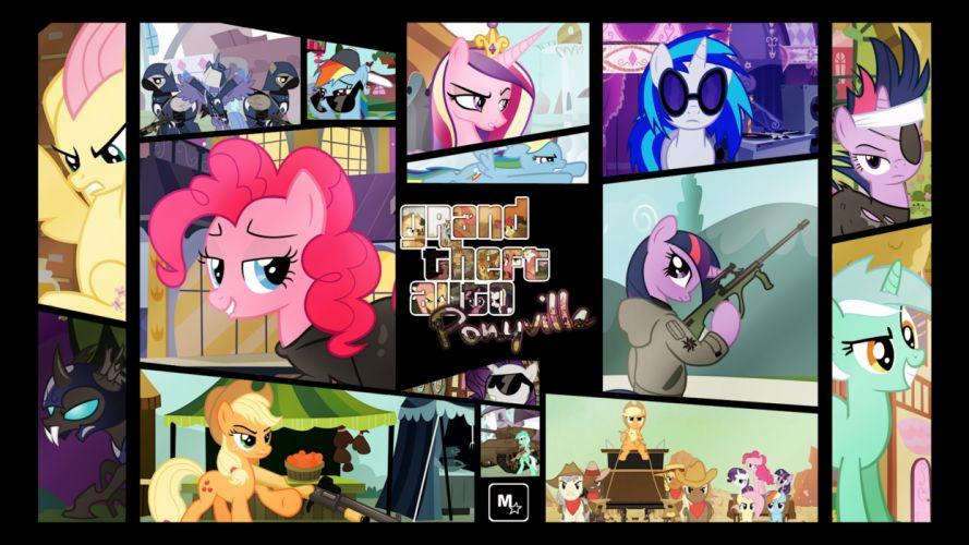 Grand Theft Auto GTA My Little Pony wallpaper