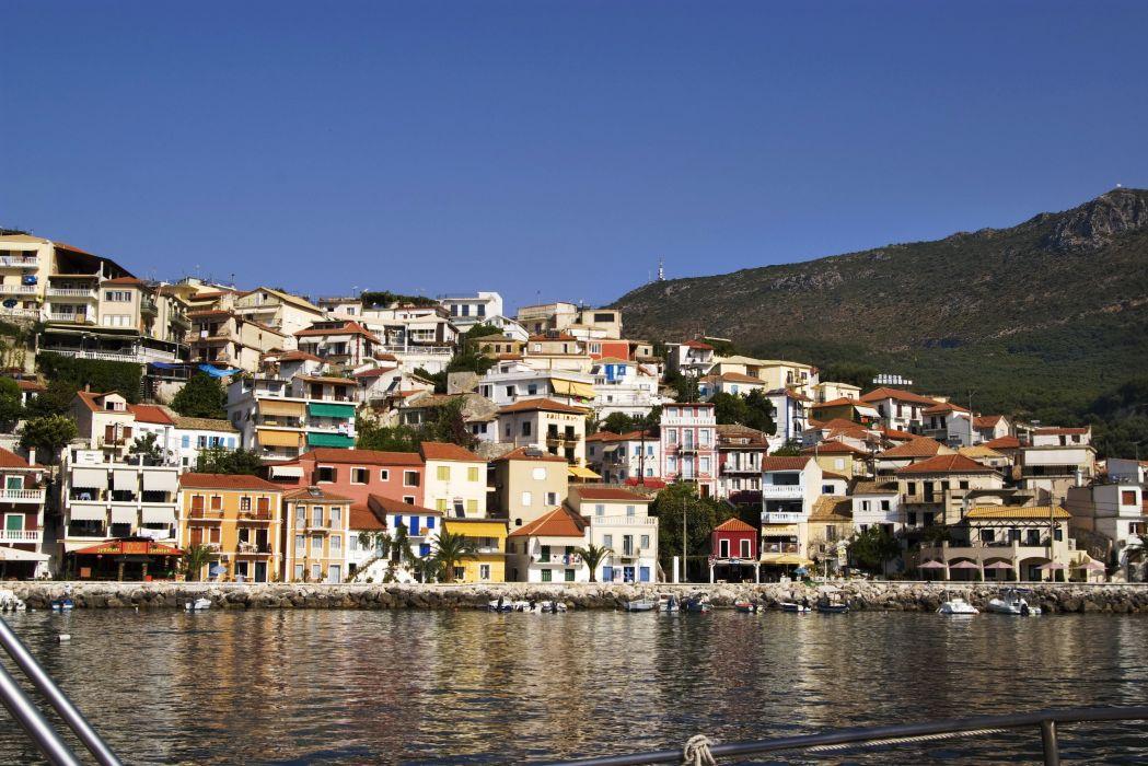 Greece Houses Coast Parga Cities    r wallpaper