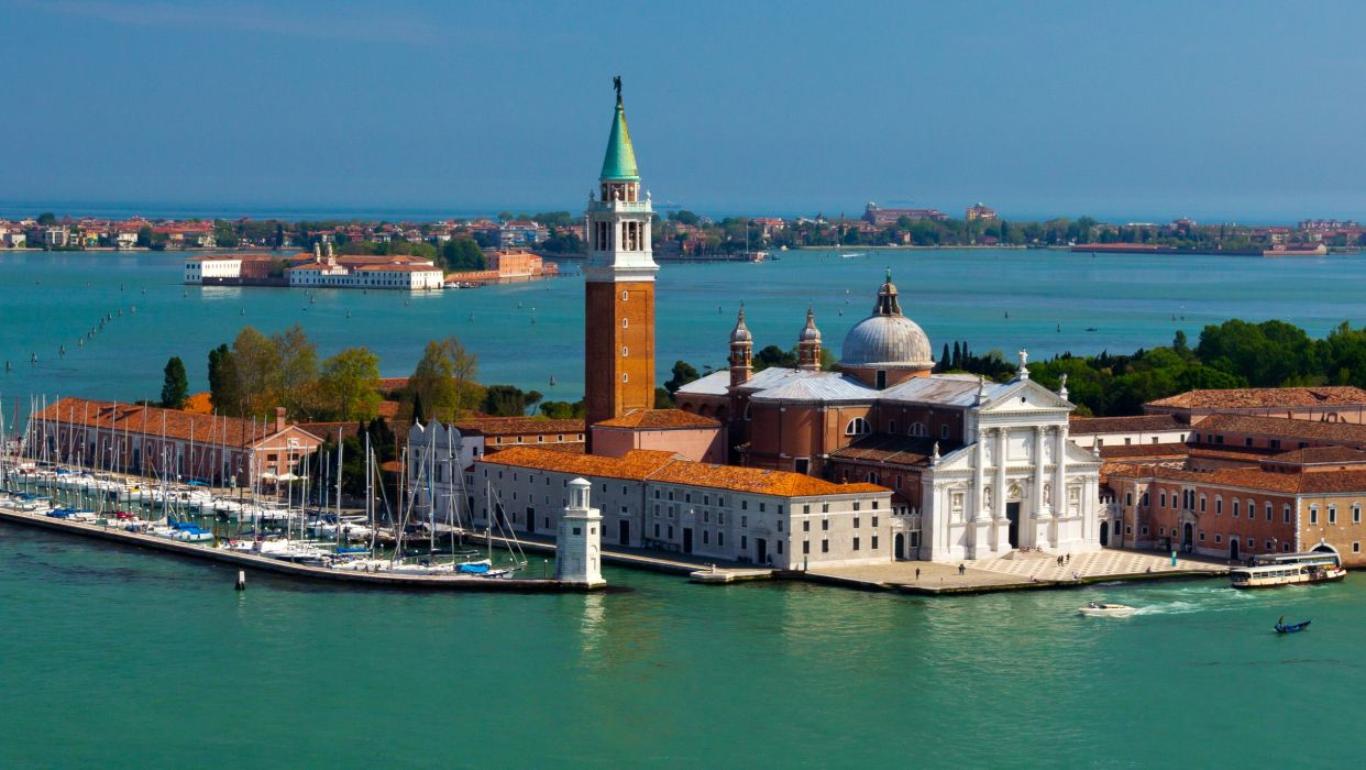 Italy Island San Giorgio Maggiore Venice Cities wallpaper