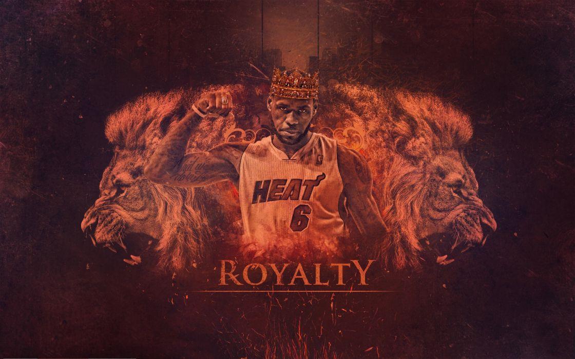 LeBron James Miami Heat NBA Basketball wallpaper