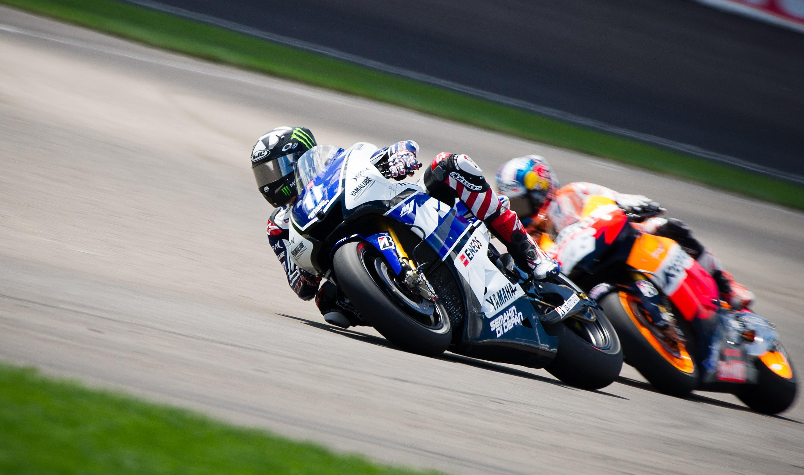 Motorcycle Yamaha Motogp Race Racing Wallpaper 2688x1591 112894