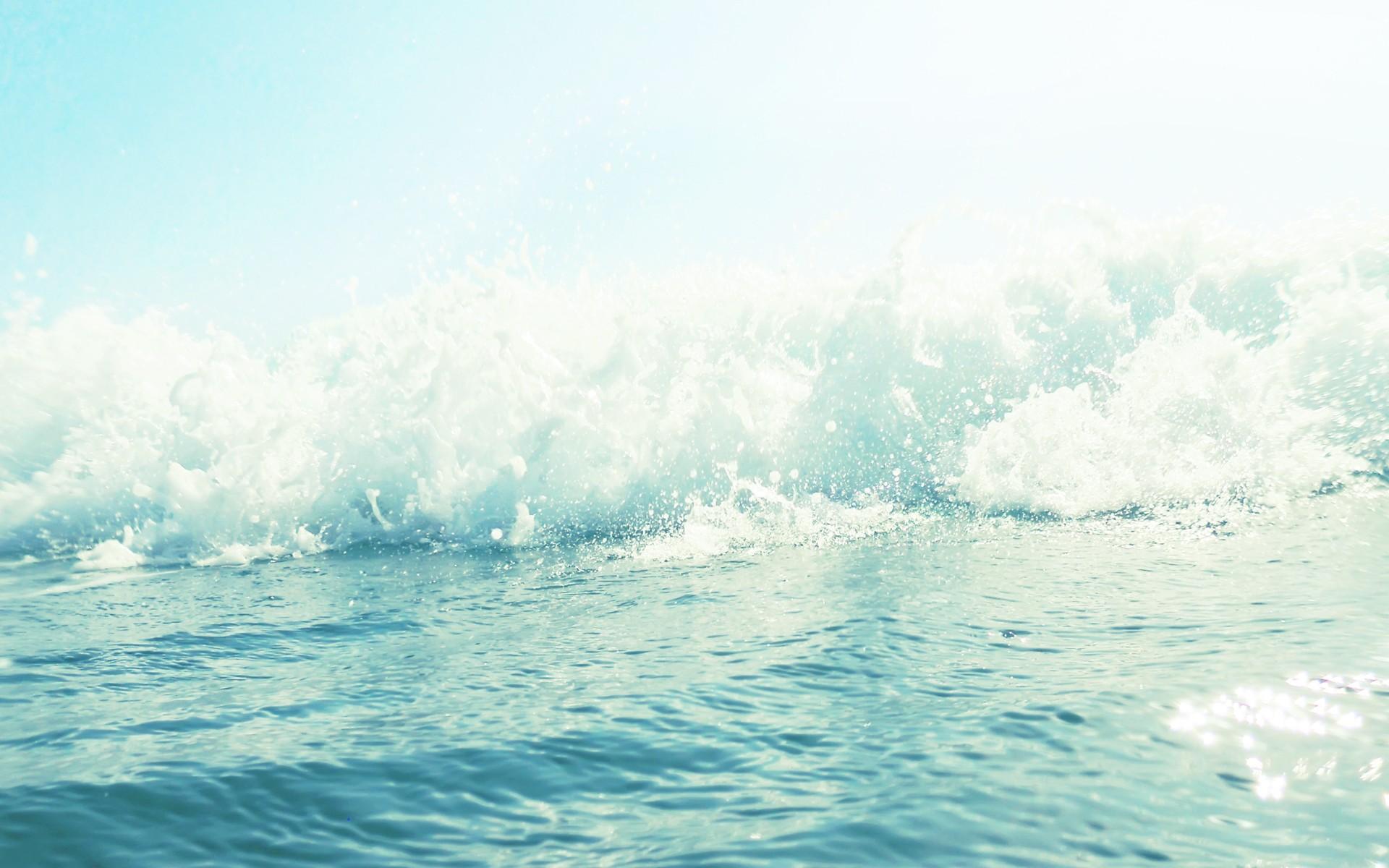Ocean Wave Water drops bokeh wallpaper background