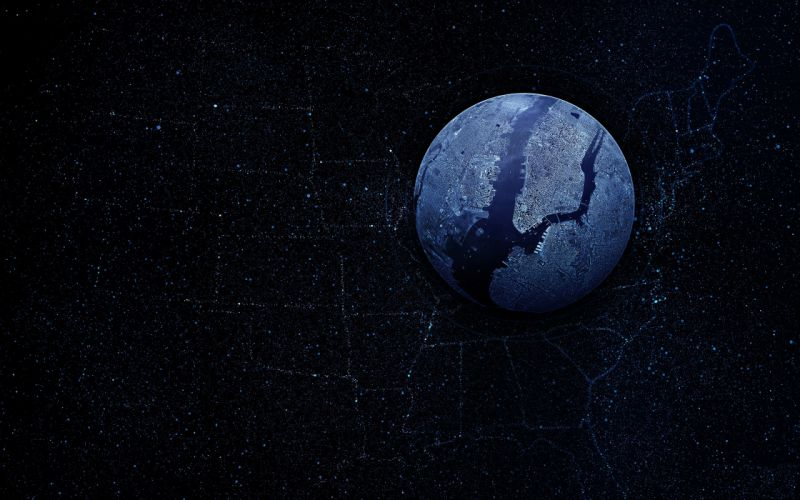 Planet Abstract map from-space wallpaper