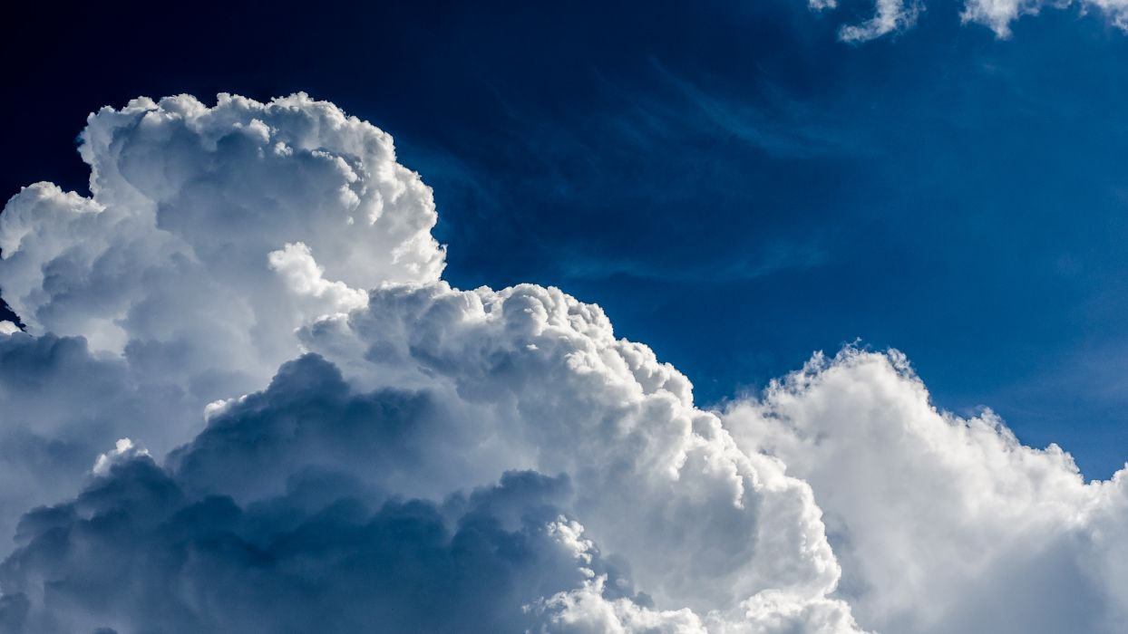 sky clouds nature bokeh wallpaper